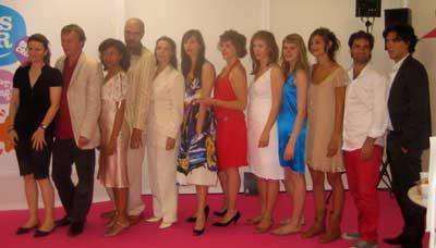 Les jeunes talents 2008 et la réalisatrice Lea Fazer