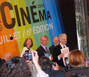 Charlotte Rapling, Bertrand Delanoë et David Cronenberg