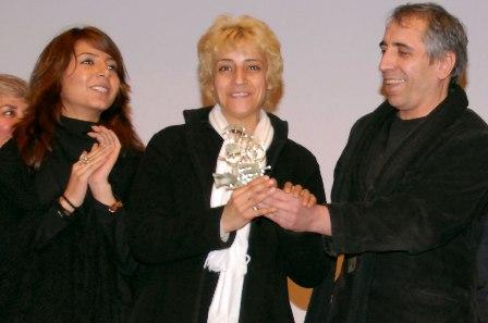 Mohsen Makhmalbaf, Marzieh Meshkini et Hana Makhmalbaf