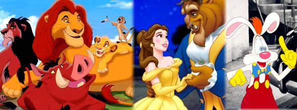 le roi lion la belle et la bete roger rabbit