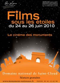 Affiche Festival Films sous les étoiles 2010