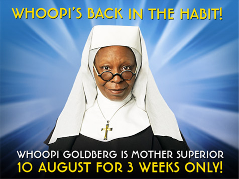 whoppi goldberg sister act musical london