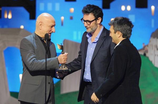 The Artist michel hazanavicius thomas langmann ben kingsley independent spirit awards 2012