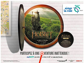 le hobbit événement ratp warner bros