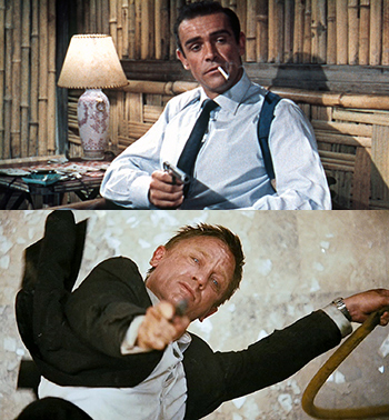james bond sean connery dr no daniel craig quantum of solace