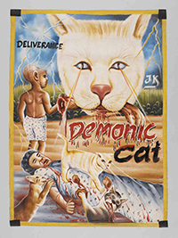 demonic cat poster cinema ghana quai branly