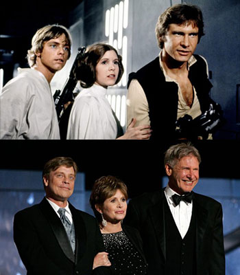 Mark Hamill Luke Skywalker Carrie Fisher Princess Leia Harrison Ford Han Solo Star Wars