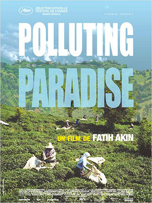 poster polluting paradise