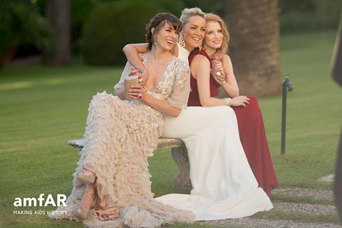 milla jovovich sharon stone jessica chastain gala amfar cannes 2013