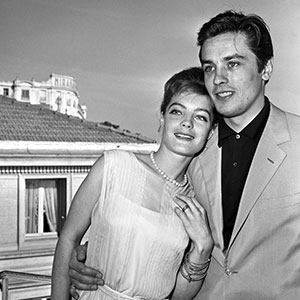 alain delon et romy schneider à cannes en 1962