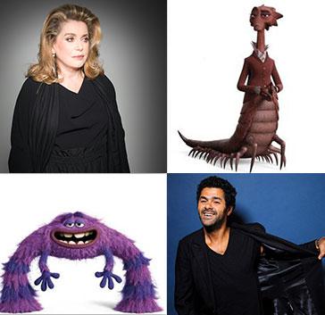 catherine deneuve jamel debbouze monstres academy monsters university pixar