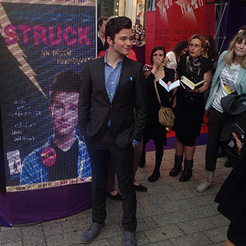 chris colfer struck © champs elysees film festival