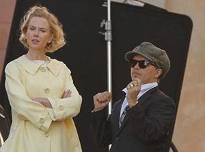 Nicole Kidman et Olivier Dahan sur le tournage de Grace de Monaco
