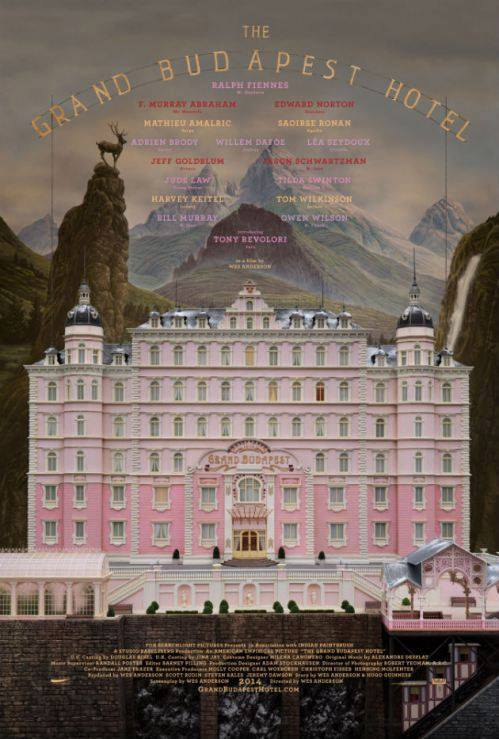 affiche the grand budapest hotel wes anderson