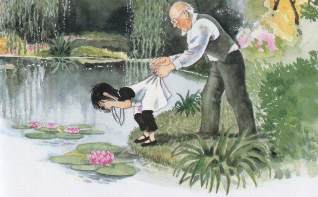 Linnea dans le jardin de Monnet