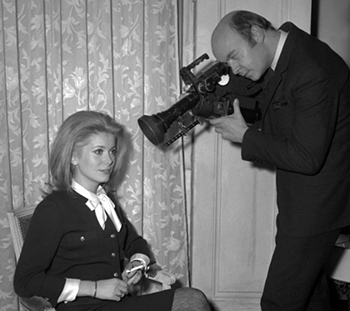 jean-paul rappeneau et catherine deneuve en 1966