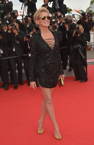 sharon stone cannes 2014