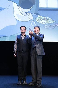 cristal d'honneur pour isao takahata annecy 2014