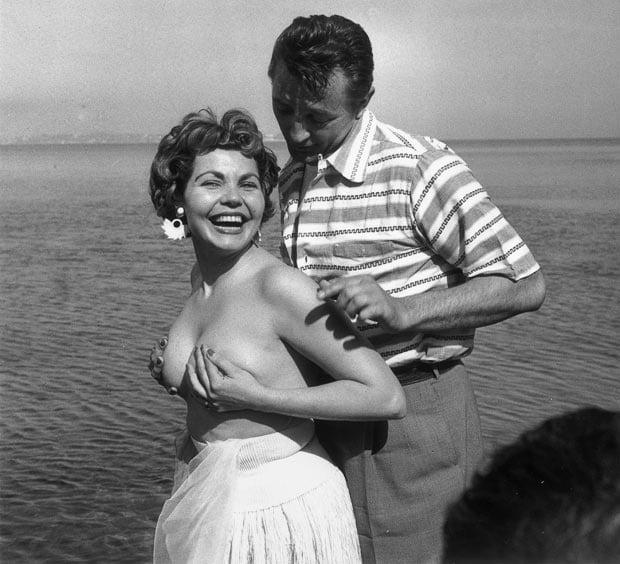 mitchum silva cannes 1954