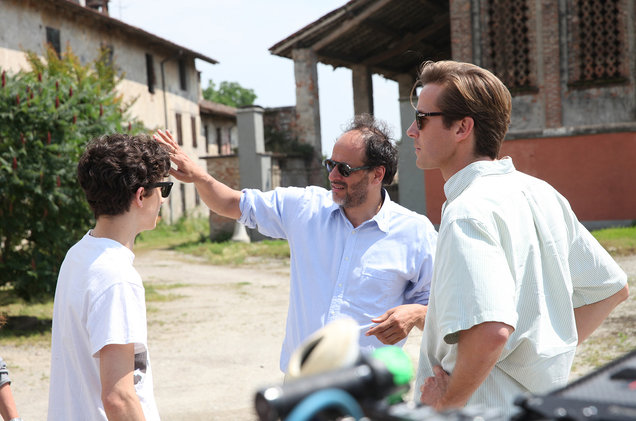 Luca Guadagnino call me by your name tournage armie hammer timothee chalamet